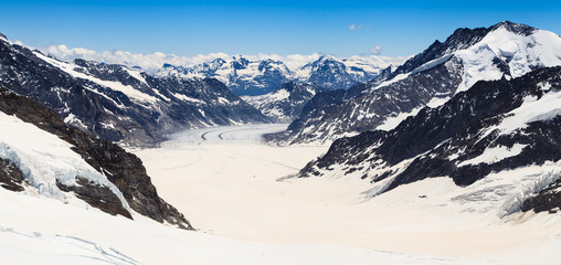 Aletsch glacier view from the Jungfraujoch, Switzerland