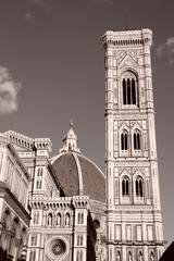 Florence cathedral - sepia tone monochrome style