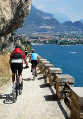 Mountainbiker am Gardasee