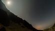 Fagaras mountain valley moon setting 4K