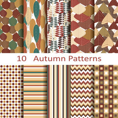 set of ten autumn patterns