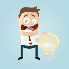 gute idee business glühbirne mann