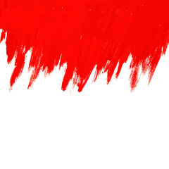 Abstract red vector background with brush stroke