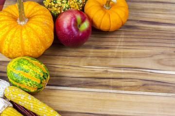 Pumpkin on cutting board
