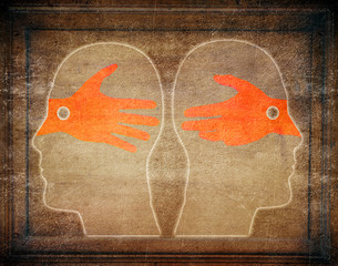 misunderstandings digital illustration concept