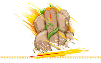 Lord Ganesha made of rock for Ganesh Chaturthi