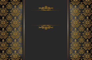 Background with baroque ornament and place for text