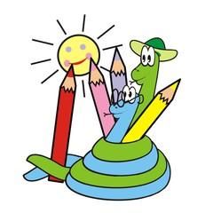 snake and crayon