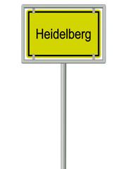 Heidelberg - Ortsschild