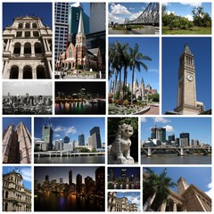 Brisbane collage - travel photo set