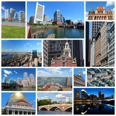 Boston, United States - travel photo collage set