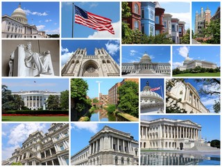 Washington DC - travel photo collage set