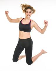 Fitness, ragazza che salta