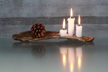 Kerzen, weihnachtlich