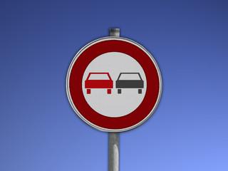 Verkehrsschild Überholverbot