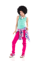 Cool little girl with afro hair