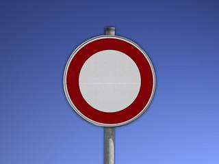 Verkehrsschild, Verbot für Fahrzeuge aller Art