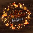 Christmas wreath garland poster