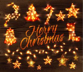 Christmas set garland