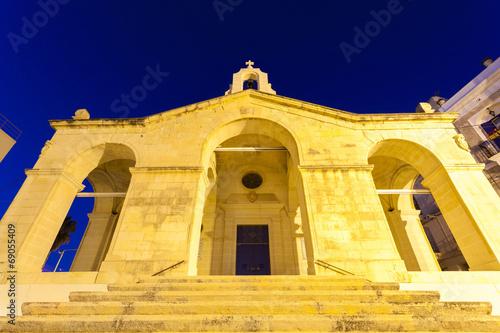 canvas print picture Schiffbruch Kirche auf Malta bei St Paul