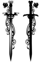 sword among roses