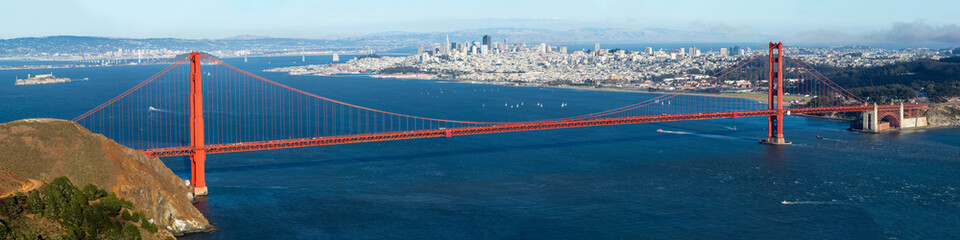 Golden Gate with San Francisco city view