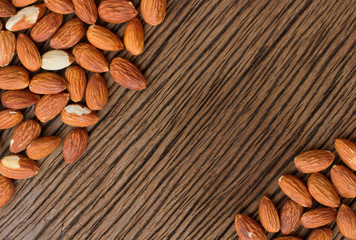almond seed background