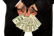 Manager mit Dollar Geldscheinen
