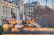 canvas print picture - Cibeles Fountain at Madrid, Spain