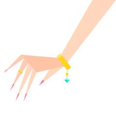 Bracelet wedding Ring on hand