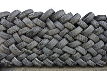 Tas de vieux pneus