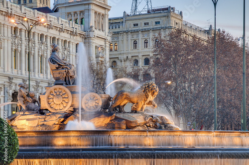 canvas print picture Cibeles Fountain at Madrid, Spain