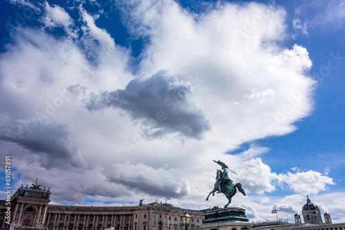 canvas print picture Blauer Himmel mit Wolken