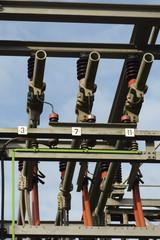 Sous-station électrique - Gros plan