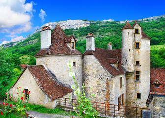 Autoire -one of the 'most beautiful villages of France ,Dordogne