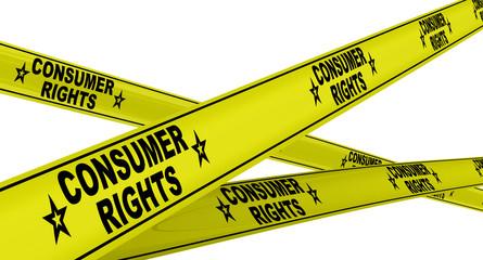 Права потребителей (consumer rights). Желтая оградительная лента