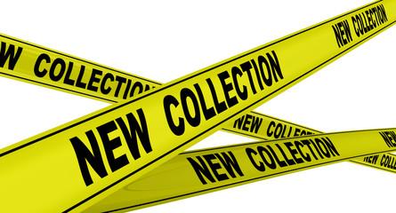 Новая коллекция (new collection). Желтая оградительная лента