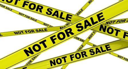 Не для продажи (not for sale). Желтая оградительная лента