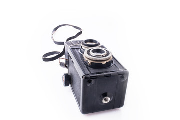 Old camera on its side