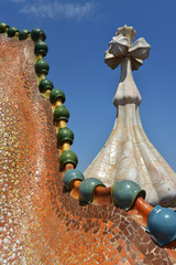 Casa Batllo, details on the roof
