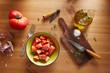 Bowl of raw tomato salad