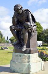 Hamlet statue in Stratford-upon-Avon