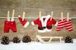 canvas print picture - Weihnachtskleidung