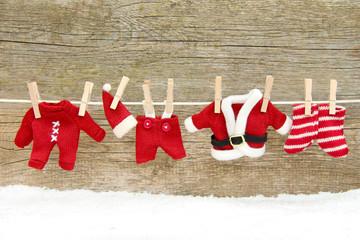 Die Kleidung vom Weihnachtsmann