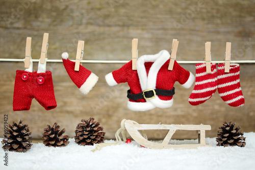 canvas print picture Weihnachtskleidung