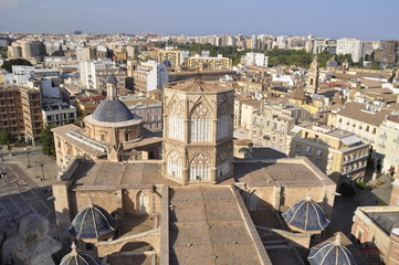 Valencia, Cathedral, Aerial View