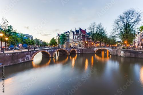 Foto op Aluminium Oude gebouw Keizersgracht canal in Amsterdam, Netherlands.