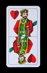 Spielkarte - Ober Herz