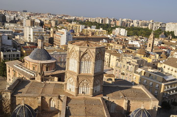 Aerial View of the Cathedral, Valencia