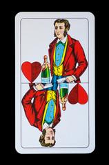 Spielkarte - Unter Herz